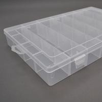 Пластмассовый ящик для радиодеталей, 195 х 35 х 130 мм, 24 отделений