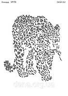 """Схема для частичной вышивки бисером """"Леопард"""""""