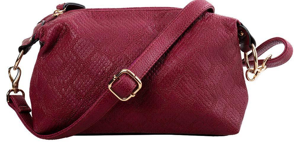 Женская сумка-клатч AMELIE GALANTI A991004-Dred из кожзама, бордовый