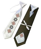 """Детский галстук с вышивкой """"Левко"""""""