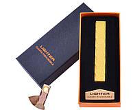 USB зажигалка в подарочной упаковке Lighter (Спираль накаливания) HL-47 Gold