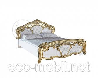 Двоспальне ліжко 160х200 мяка спинка з каркасом у спальню Єва Міромарк