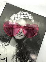 Солнцезащитные стильные розовые очки