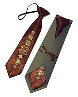 """Детский галстук с вышивкой """"Глиб"""""""