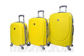 Валіза Bonro Smile набір 3 штуки жовтий, фото 2