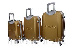 Чемодан Bonro Smile набор 3 штуки золотой, фото 2