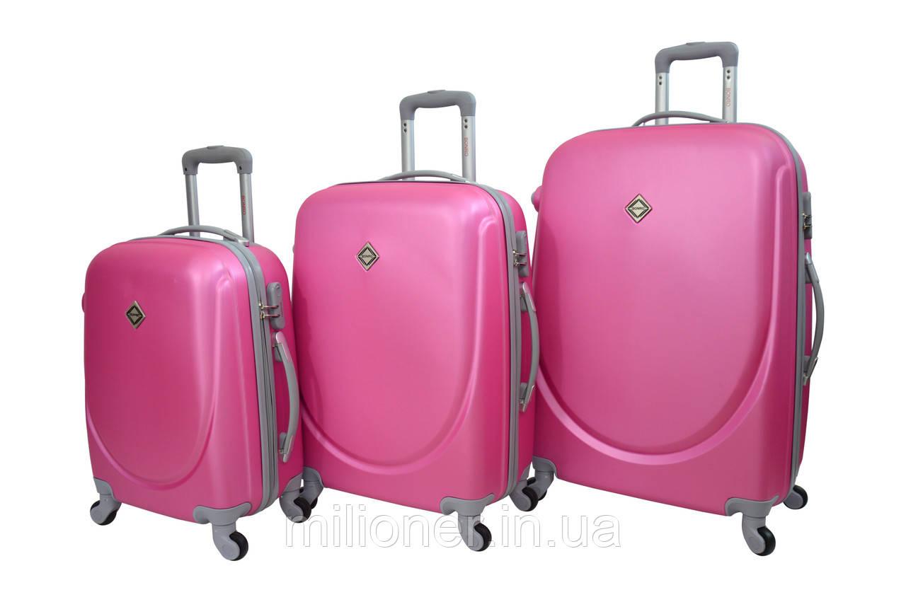Чемодан Bonro Smile набор 3 шт. розовый