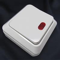 Выключатель 1-клавишный с подсветкой наружный АВАТАР GAV 655 (YW-1801)