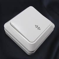 Выключатель 1- клавишный проходной наружный АВАТАР GAV 657 (YW-1810)