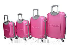 Чемодан ручная кладь Bonro Smile (мини) розовый, фото 3