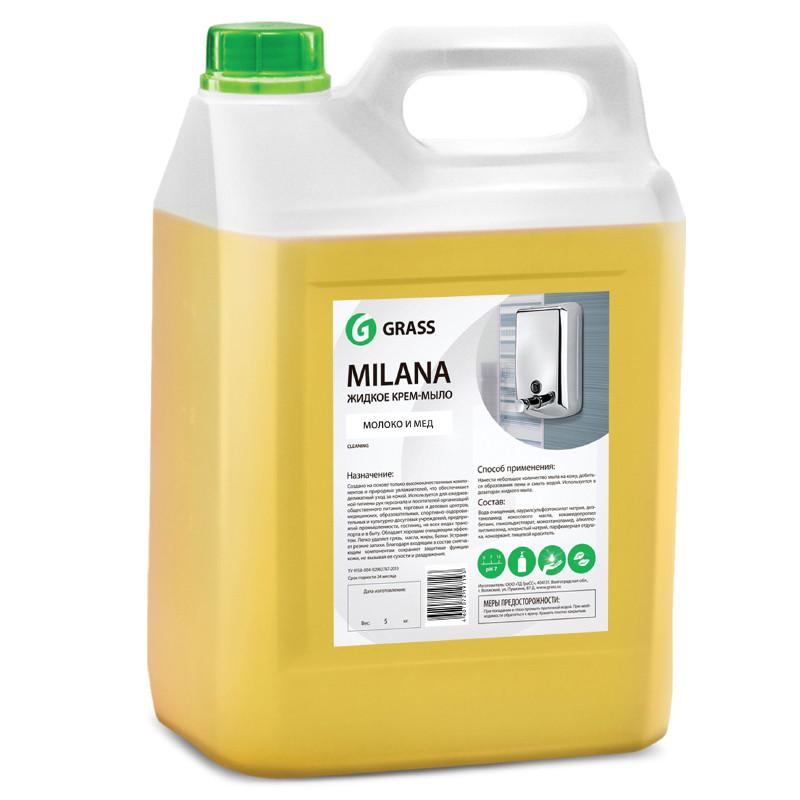 """Мыло GRASS """"Milana"""" Молоко и мёд 5л 125105B"""
