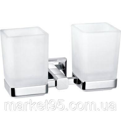 Стакан подвійний для ванни латунний