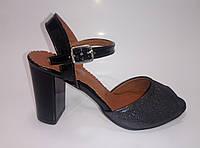 Женские кожаные босоножки на каблуке ТМ Starmania, фото 1