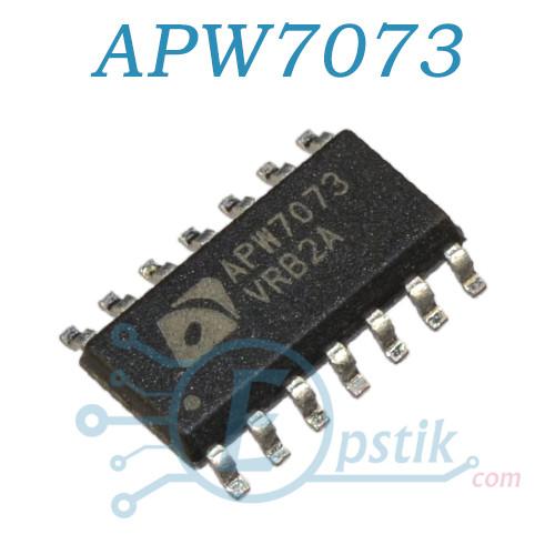 APW7073, синхронный понижающий ШИМ-контроллер, SOP14