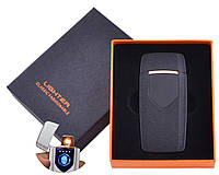USB зажигалка в подарочной упаковке Lighter (Спираль накаливания) HL-57 Black