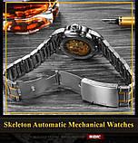 Мужские часы Bosck Механические с автоподзаводом, водонепроницаемые Gold, фото 7