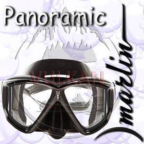 Маска Marlin PANORAMIC black (четырехстекольная), фото 2
