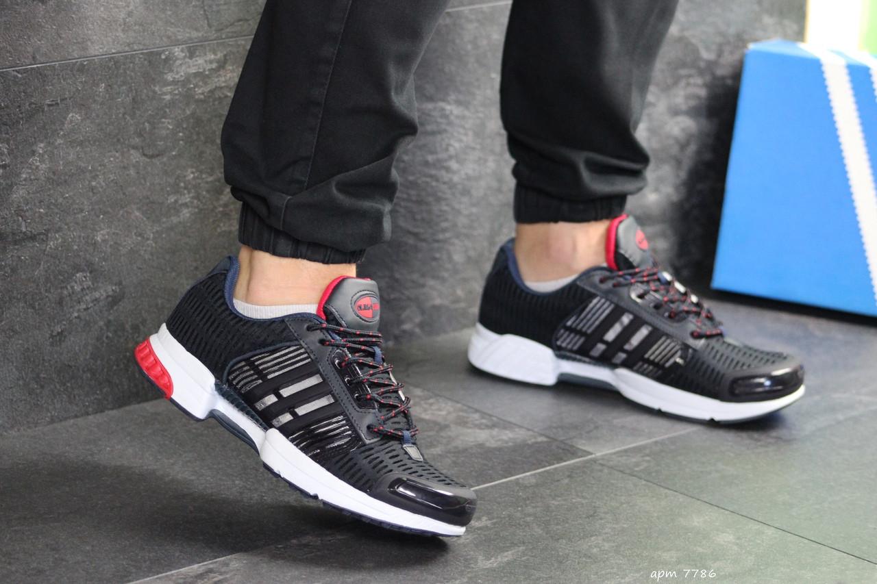 Мужские кроссовки Adidas Clima Cool (темно-синие с белым)