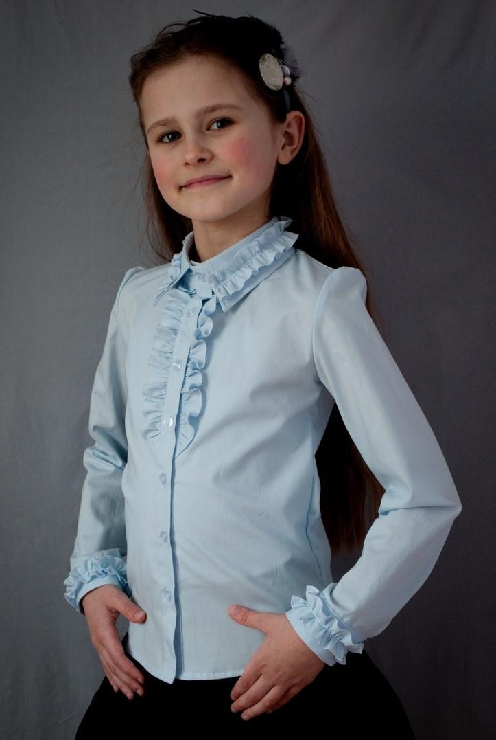 Блузка  школьная красивая мод.2015