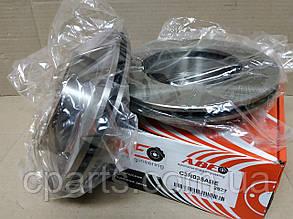 Диск гальмівний передній вентильований Dacia Solenza (ABE C3R035ABE)(середня якість)