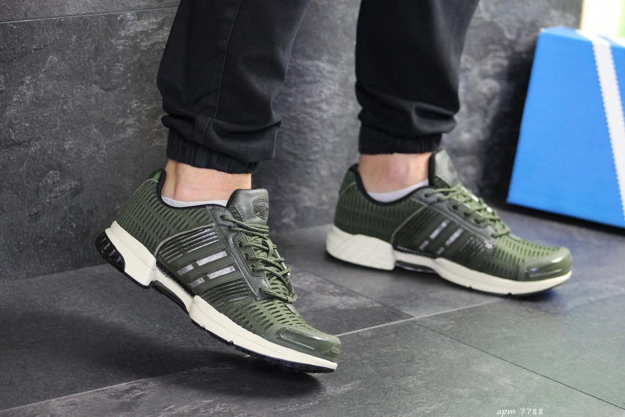 Мужские кроссовки Adidas Clima Cool (темно-зеленые)