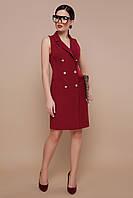 Строгое платье - жилет в офисном стиле