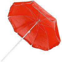 Зонт диаметром 1,7 м серебренное покрытие с уклоном. Цвет: Красный