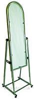 Торговое серое напольное зеркало ширина 35см в металлической рамке  на ножках, фото 1