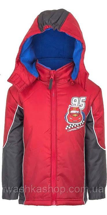 Красная демисезонная куртка Тачки для мальчика 4 лет, р 104, Cars, Disney / Pixar