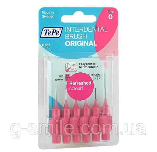 Межзубные ершики TePe ID Bürste Pink 0,4 mm, розовый