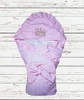 Конверт - одеяло для новорожденного в роддом на выписку для Девочки Со съемным наполнителем