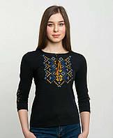Женская футболка - вышиванка с длинным рукавом