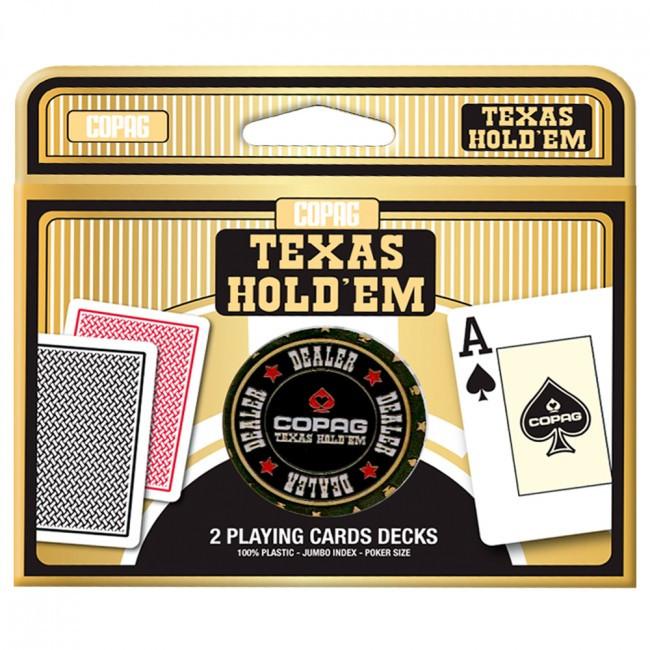 Пластикові гральні карти | Copag Texas hold'em + Dealer Button