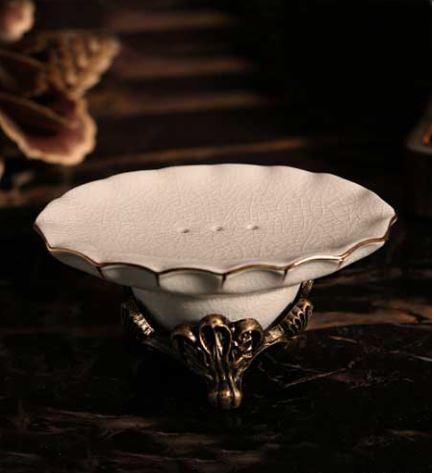 Мыльница настольная керамическая бронза 0775