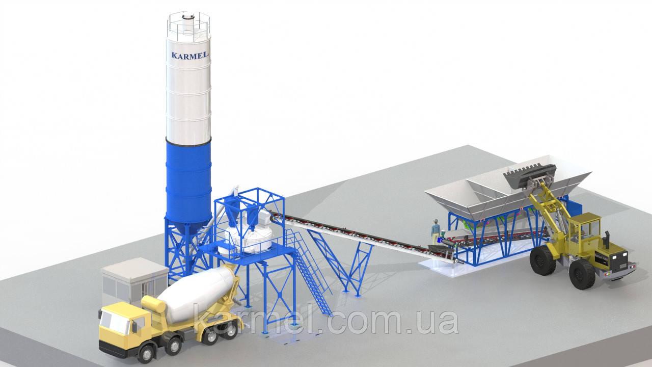 Мобильная бетоносмесительная установка МБЗУ-40К KARMEL