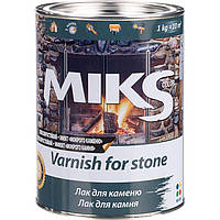 "Лак для каменю безбарвний з ефектом «мокрого каменю"" Miks 2,1 кг"