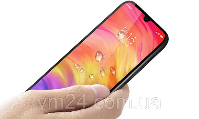 Защитное стекло  Full Glue для Xiaomi Redmi 7 черное