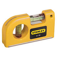 "Уровень STANLEY""Pocket Level"" карманный, 2 капсулы, L=87 мм,"