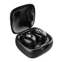Влагозащищенные беспроводные Bluetooth 5.0 наушники-гарнитура с магнитным зарядным кейсом XG12 черные