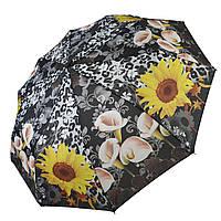 """Женский зонт-полуавтомат """"S&L"""" с подсолнухами, 43006-9, фото 1"""