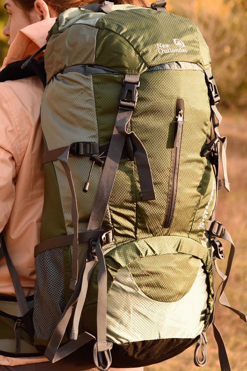 Рюкзак спортивный на 45 50 литров New Outlander  45+5L , темно-зеленый(AV 1009)
