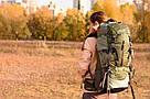Рюкзак спортивный на 45 50 литров New Outlander  45+5L , темно-зеленый(AV 1009), фото 5