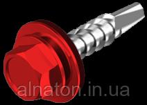 Саморез кровельный 4,8х19 окрашенный RAL по металлу (упаковка 250шт) с уплотнителем EPDM