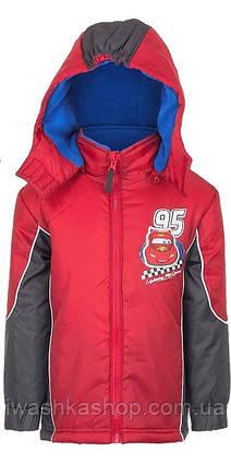 Красная демисезонная куртка Тачки для мальчика 8 лет, р 128, Cars, Disney / Pixar