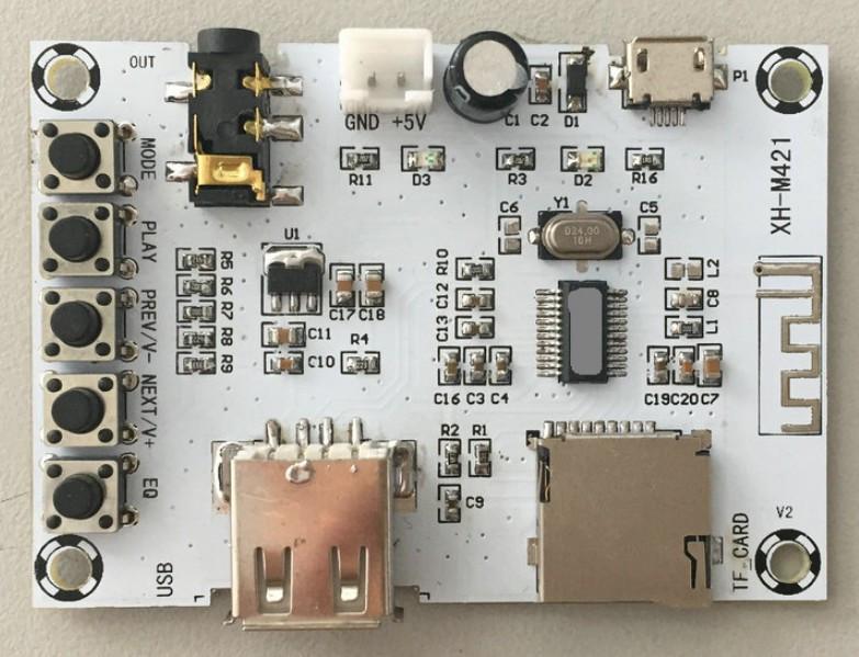 Бездротової Bluetooth XH-M421 підсилювач з підтримкою USB+TF 3 W + 3 W