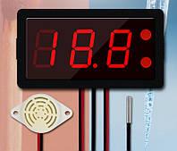 Термометр электронный XH-B330 12-24V ,от -50 до 110 со звуковой сигнализацией(красные цифры), фото 1