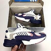 Женские кроссовки Adidas Yung 1 Адидас Янг 1  фиолетовые реплика
