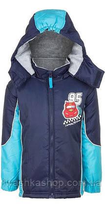 Синяя демисезонная куртка Тачки для мальчика 3 лет, р 98, Cars, Disney / Pixar