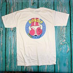 Белая футболка RipNDip • сочный принт • бирки ориг
