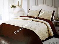 Покрывало с наволочками с коричневым, фото 1